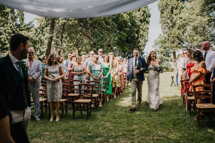 Outdoor ceremony in Italy