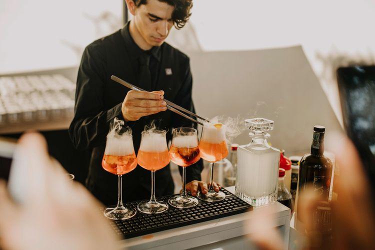 Aperol Spritz wedding drinks