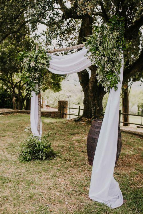 Wedding ceremony decor in Italy