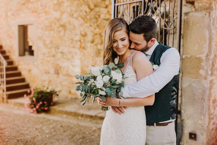Bride and groom at Italian wedding