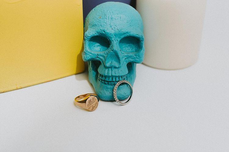 Turquoise Skull & Wedding Rings