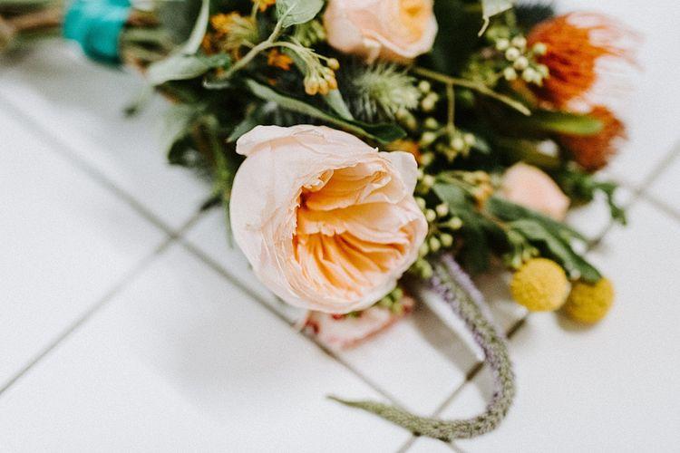 Peach David Austin Rose Wedding Flower