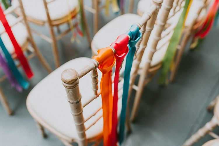 Colourful Chair Back Ribbon Decor