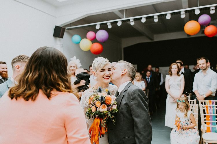 Father of the Bride Giving Away His Daughter at the Altar