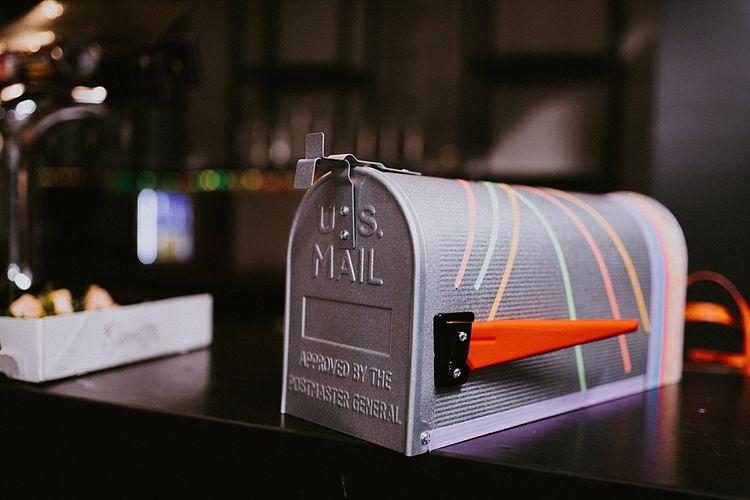 American Mail Box Wedding Card Holder