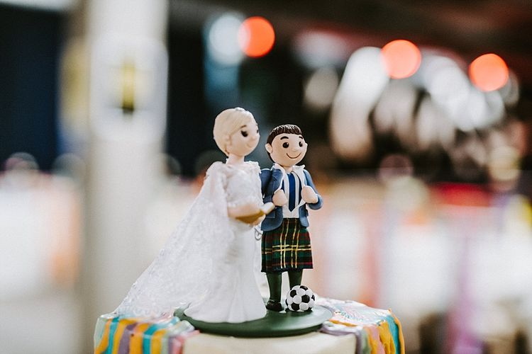 Miniature Bride and Groom Cake Topper