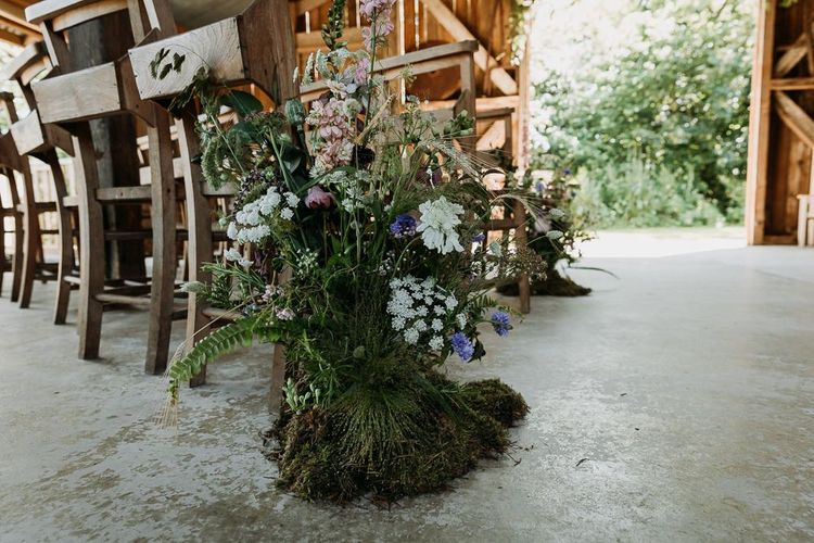 Wedding Aisle Decor Wild Flowers