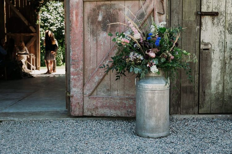 Wedding Flowers for Rustic Barn Ceremony