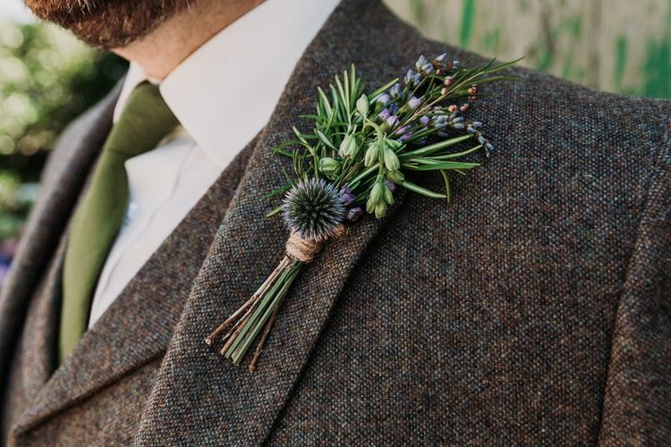 Wildflower Groom Buttonhole