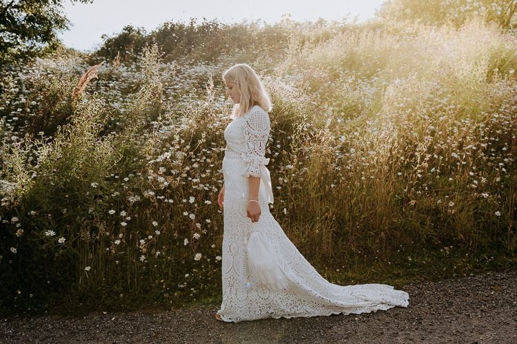 Bride Wearing Fleetwood of London Wedding Dress