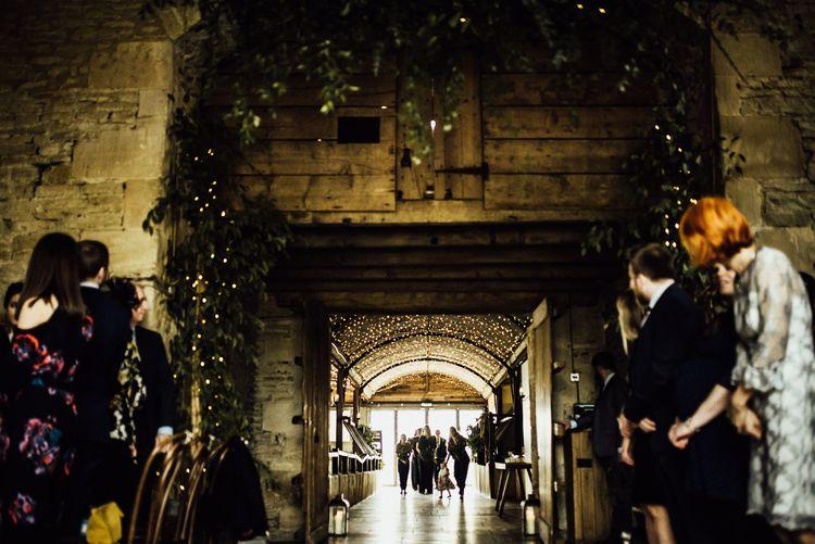 Stone Barn Wedding Ceremony Bridal Party Entrance
