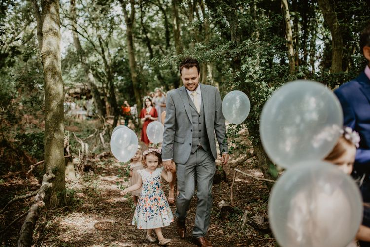 Wedding Guests | Macramé & Dreamcatcher Woodland Wedding at Upthorpe Wood | Camilla Andrea Photography