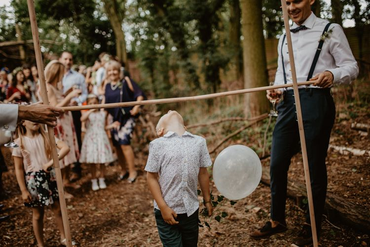 Wedding Games  | Macramé & Dreamcatcher Woodland Wedding at Upthorpe Wood | Camilla Andrea Photography