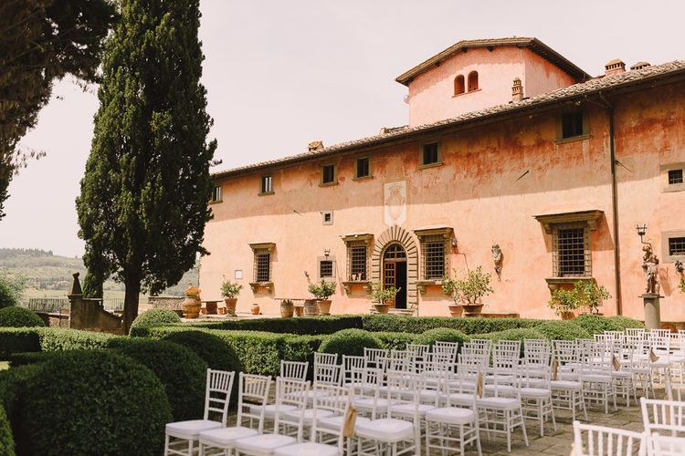Vignamaggio Tuscan Wedding Venue Set Up