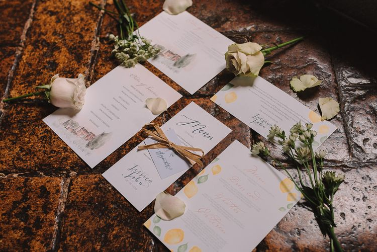 Wedding Stationery from Wonderful Roses Co. with Flowerstems and Twine