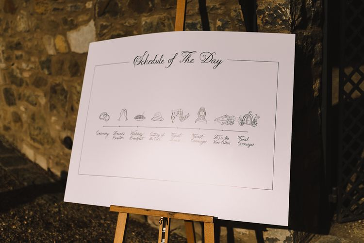 Order of the Day Sign on Easel