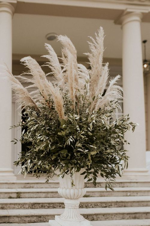 Greenery and Pampas Grass Floral Arrangement
