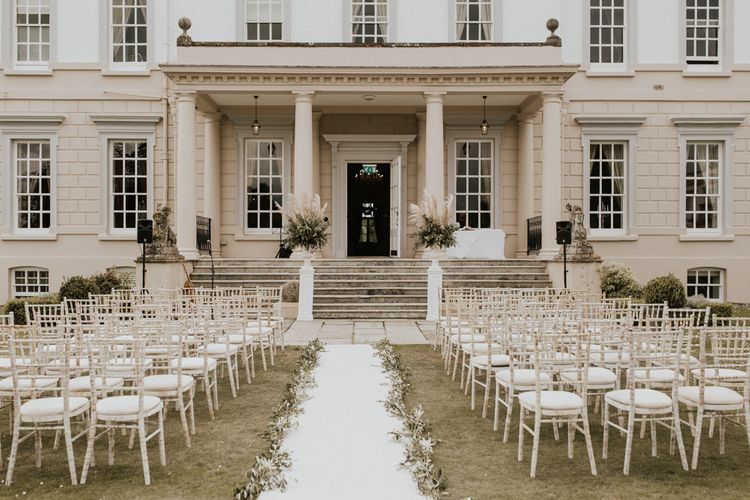 Outdoor Wedding Ceremony at Buxted Park Hotel in East Sussex