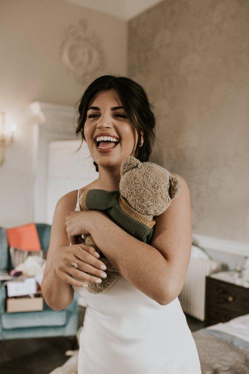 Beautiful Bride in Grace Loves Lace Slip Wedding Dress