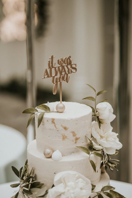 Gold It Was Always You Cake Topper