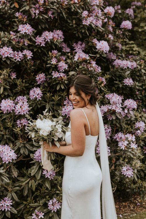 Beautiful Bride in Grace Loves Lace The Arlo Slip Wedding Dress
