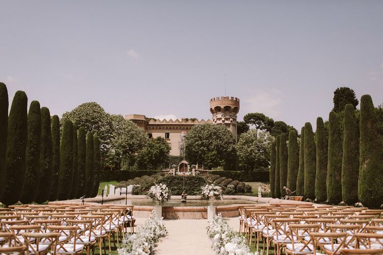 Stunning wedding ceremony at Barcelona castle venue