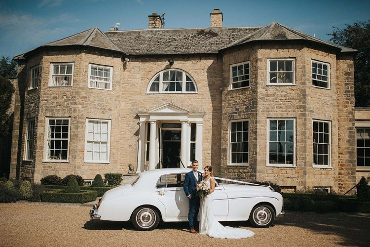 Bride and groom at Washingborough Hall