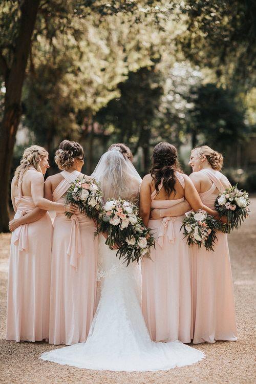 Multiway bridesmaid dresses for Washingborough Hall wedding