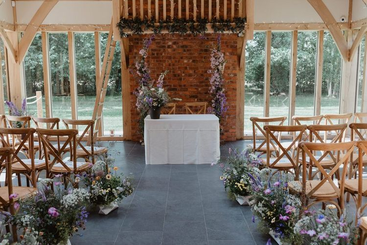 Aisle and Altar Wedding Flower Decorations