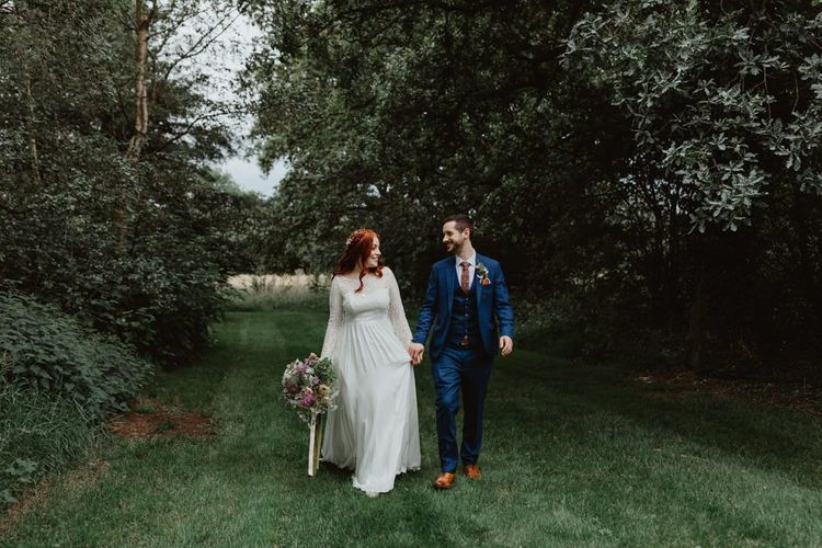 Bride Wears Lucy Can't Dance Dress For Rustic Wedding Day