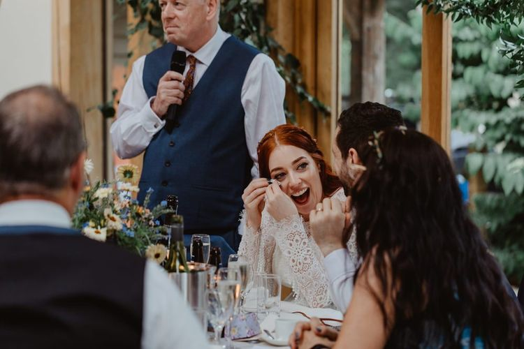 Bride Gets Emotional During Wedding Speeches