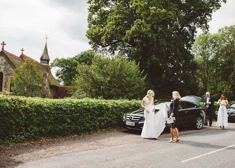 Valeria By Pronovias Bridal For Elegant At Home Wedding With Clear Marquee And White Florals And Images From Holly Carlin Photography