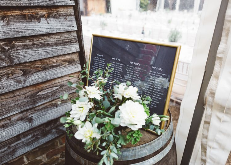 Elegant Table Plan For Wedding // Valeria By Pronovias Bridal For Elegant At Home Wedding With Clear Marquee And White Florals And Images From Holly Carlin Photography