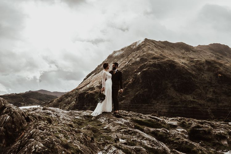 Stunning Snowdonia wedding with mountain backdrop