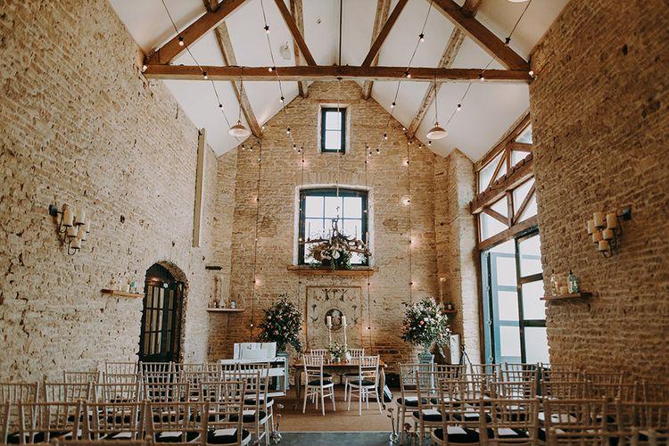 Merriscourt High Ceiling Barn with Fairy Lights Decor
