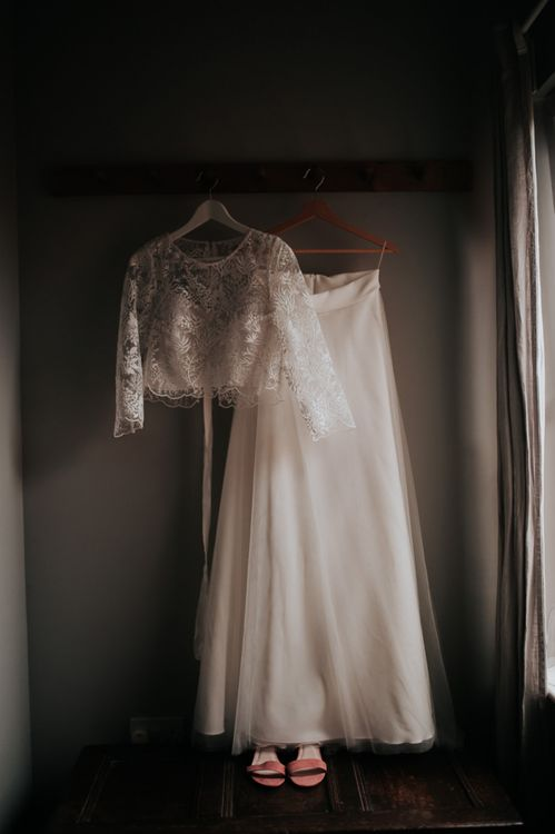 Two Piece Bridal Gown with Handmade Top