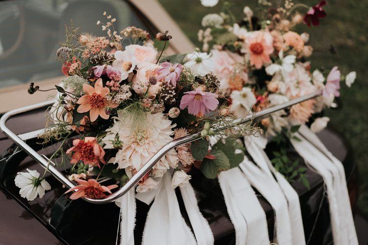 Homegrown Pink and Blush Flowers Wedding Arrangement