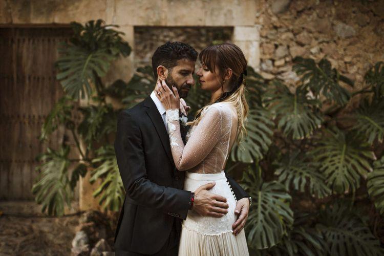 Intimate Bride and Groom Portrait
