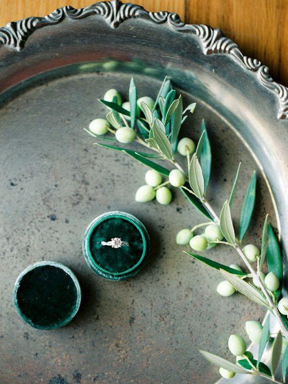 Diamond Engament Ring | Outdoor Wedding Ceremony Aisle & Altar | Pastel Blue & Green, Romantic, Destination Wedding at Corfu Luxury Villas, Planned by Rosmarin Weddings & Events | Mikhail Balygin Fine Art Wedding Photographer