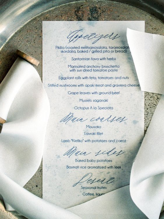 Elegant Wedding Stationery | Pastel Blue & Green, Romantic, Destination Wedding at Corfu Luxury Villas, Planned by Rosmarin Weddings & Events | Mikhail Balygin Fine Art Wedding Photographer