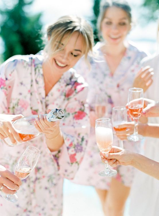 Getting Ready Robes | Pastel Blue & Green, Romantic, Destination Wedding at Corfu Luxury Villas, Planned by Rosmarin Weddings & Events | Mikhail Balygin Fine Art Wedding Photographer