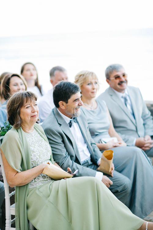 Outdoor Wedding Ceremony | Pastel Blue & Green, Romantic, Destination Wedding at Corfu Luxury Villas, Planned by Rosmarin Weddings & Events | Mikhail Balygin Fine Art Wedding Photographer