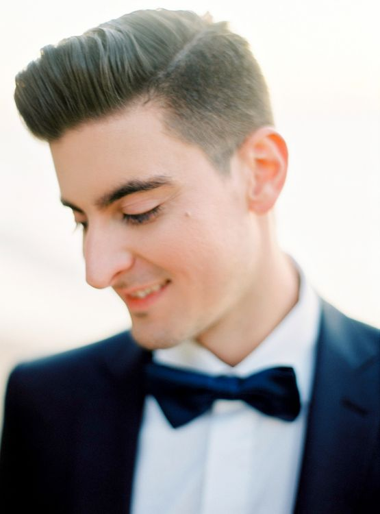 Groom in Black Tie Suit | Pastel Blue & Green, Romantic, Destination Wedding at Corfu Luxury Villas, Planned by Rosmarin Weddings & Events | Mikhail Balygin Fine Art Wedding Photographer