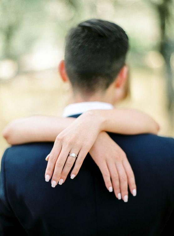 Diamond Engagement Ring | Pastel Blue & Green, Romantic, Destination Wedding at Corfu Luxury Villas, Planned by Rosmarin Weddings & Events | Mikhail Balygin Fine Art Wedding Photographer