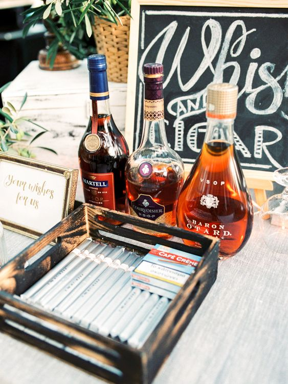 Whiskey & Cigar Bar | Pastel Blue & Green, Romantic, Destination Wedding at Corfu Luxury Villas, Planned by Rosmarin Weddings & Events | Mikhail Balygin Fine Art Wedding Photographer