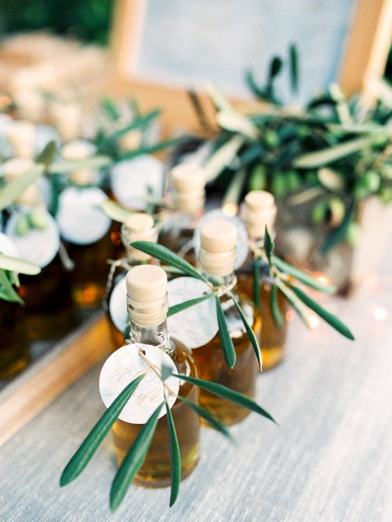 Olive Oil Wedding Favours | Pastel Blue & Green, Romantic, Destination Wedding at Corfu Luxury Villas, Planned by Rosmarin Weddings & Events | Mikhail Balygin Fine Art Wedding Photographer