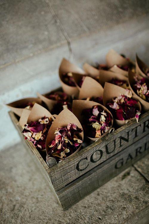 Dried Petal Confetti // Image By Eneka Stewart Photography