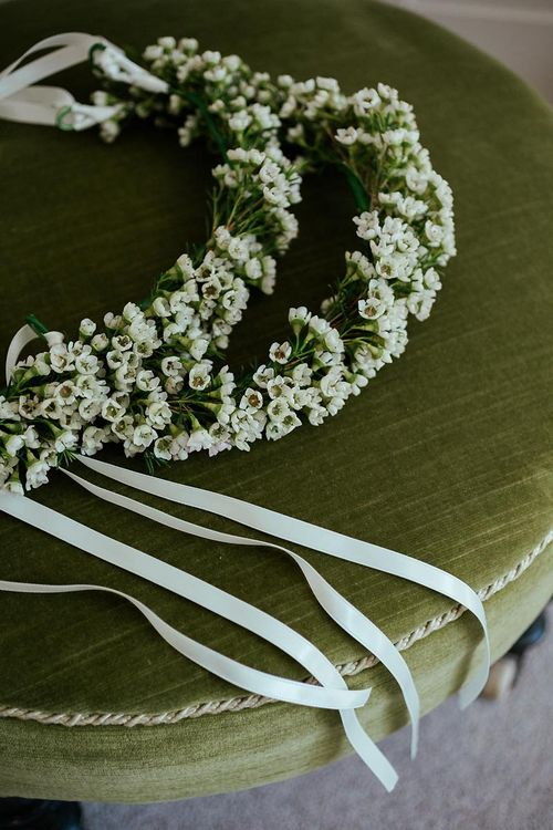 Gypsophila Crown For Flower Girls // Image By Eneka Stewart Photography