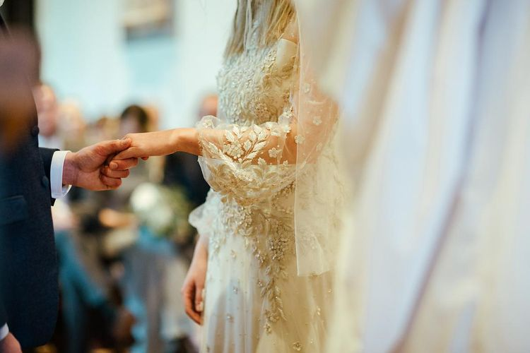 Apache By Jenny Packham Wedding Dress With Bell Sleeves // Image By Eneka Stewart Photography