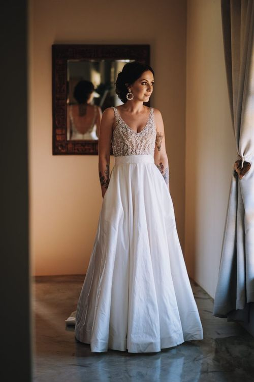 A-Line Bridal Dress For Wedding With Polaroid Guest Book
